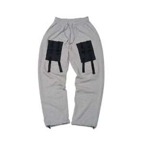 [ FEELXZERO ] WEBBING SWEATPANTS GRAY