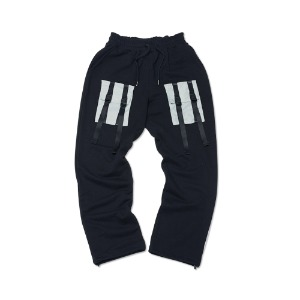 [ FEELXZERO ] WEBBING SWEATPANTS BLACK