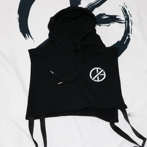 PATCH HOODIE VEST ( 2COLOR )